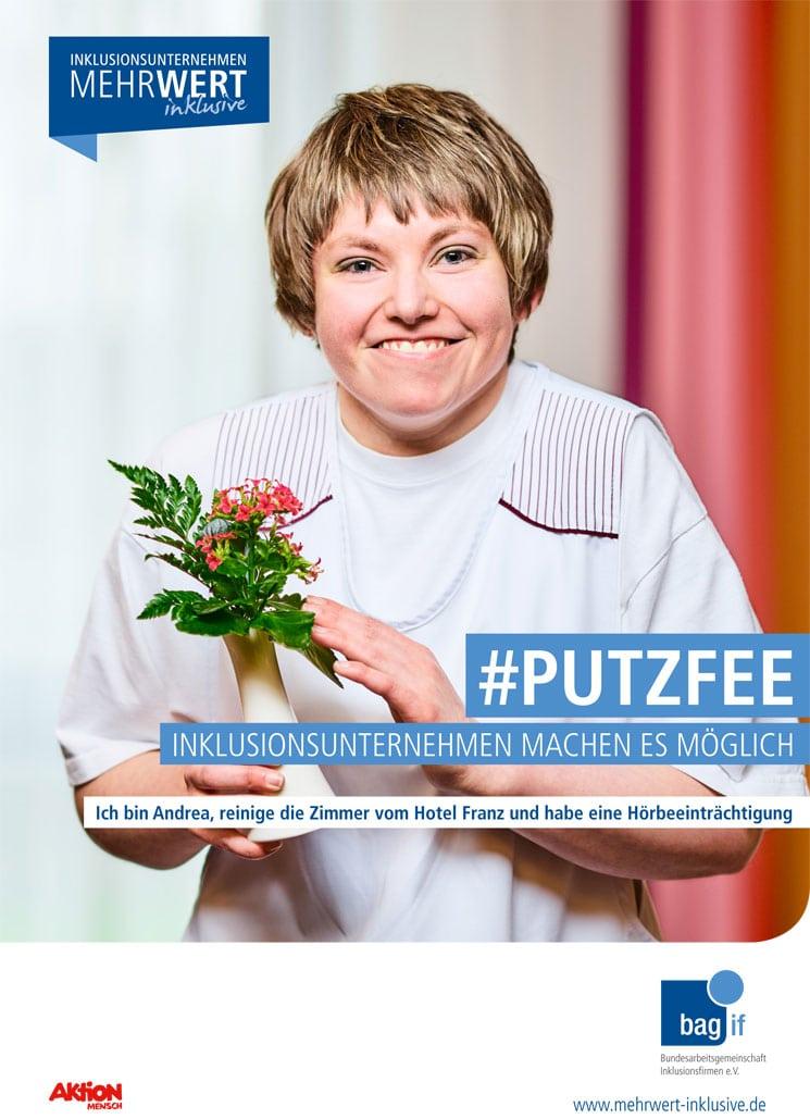 Plakat MehrWert Kampagne Putzfee